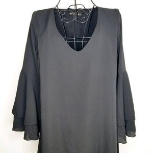 Mary & Mabel bell sleeve dress black S